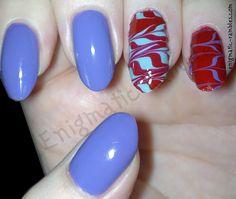 Watermarble Nails