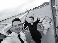 From @twins.onboard I decided to post another picture of today's flight. Today I had a lot of fun with an awesome crew. You guys made my day  well getting up 1:20 am isn't so bad  @flyingwithgabriel  #ibiza#boeing#happyday#islabonita#heard#crewfie#crew#selfie#flightattendant#flightgirls#stewardesslife#lifeofaflightattendant#aviation#aviationdaily#twins#sisterlove#love#instagood#photooftheday#happy#instadaily#travelbff#travel#wanderlust #crewiser #airplane #flightcrew #aircraft #airlinescrew…