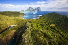 Lord Howe Island in Australia. Very beautiful, the remote island is not open to everyone all the time. Only 400 visitors are allowed to be there at a time. Because of that, the natural beauty of Lord Howe Island has been well preserved. Beautiful Places In The World, Places Around The World, Oh The Places You'll Go, Places To Travel, Places To Visit, Around The Worlds, Amazing Places, Tasmania, Australia Travel