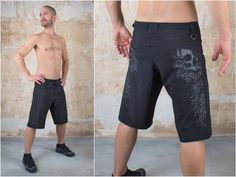 Mens Festival Shorts with Skull Swastika Tattoo Print and Board Shorts and Basketball Shorts for Sport and Mens Swim Trunks or MMA Shorts Mma Shorts, Cyberpunk Clothes, Steampunk Skirt, Festival Shorts, Comfy Pants, Summer Shorts, Swim Trunks, Cool Outfits, Basketball