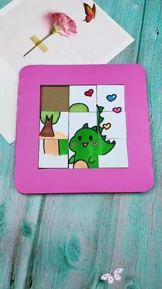 How to make a puzzle game from card board! Make a puzzle game from card board. If you like our video please follow us!<br> Diy Crafts Hacks, Diy Crafts For Gifts, Easy Diy Crafts, Diy Arts And Crafts, Creative Crafts, Decor Crafts, Creative Ideas, Quick And Easy Crafts, Yarn Crafts