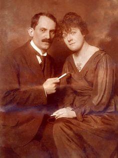 Török Sophie és Babits Mihály házasságkötése alkalmával készült fotó (Budapest, 1921. január 15.)