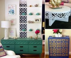 diy furniture overlays give a fabulous unique punch! by shmessa