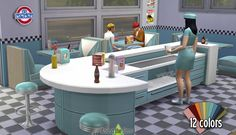 Around the Sims 4 | American Diner New Objects Buy Mode Community Lot Restaurant #installed