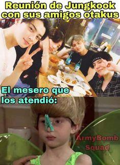 Memes Estúpidos, Exo Memes, Funny Memes, Jimin Jungkook, Bts Taehyung, Namjoon, K Pop, Drama Memes, Spanish Memes