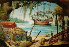 Island Mural Ideas | Pirate Wall Murals - Green House Design Ideas