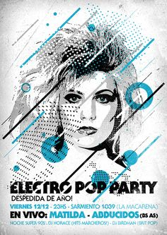 flyer design electro party poster