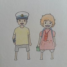 Sosuke and Ponyo #ponyo #sosuke #studioghibli #hayaomiyazaki #manga #anime #art #fanart #myart #drawing #sketch by yarnwoodwinds