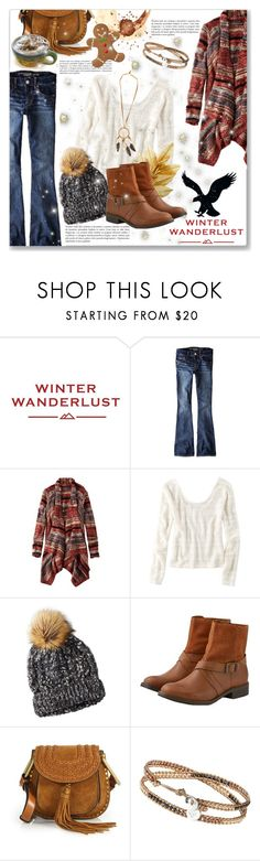 """""""Winter Wanderlust with American Eagle: Contest Entry"""" by dressedbyrose ❤ liked on Polyvore featuring American Eagle Outfitters, Chloé and WILD & FREE"""