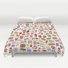 Cute food Duvet Cover