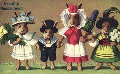 1920s bunny family