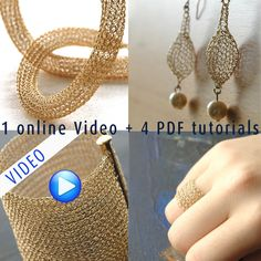 PDF tutorials for crocheting wire into beautiful jewelry!