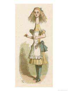 size: Giclee Print: Alice Stretches at the Neck Art Print by John Tenniel by John Tenniel : Alice In Wonderland Poster, Adventures In Wonderland, Vintage Prints, Vintage Posters, Canvas Art Prints, Fine Art Prints, John Tenniel, Illustrations Posters, Art Posters
