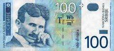 can we just take a moment to appreciate that Serbia has Nikola Tesla on a 100 dinar bank note and also the equation T = Nikola Tesla, Einstein, Forget Him, 100 Words, Magnetic Field, Serbian, Change The World, The 100, Tattoo