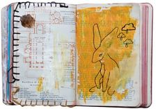 """""""Dear Diary"""", A year of spontaneous doodles in an old Rome Baedeker from 1908 by Christine Clemmensen"""