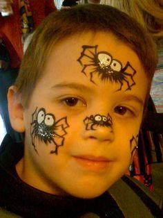 Creepy Fun Spider Halloween Face Paint #facepaintingideas