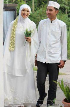 Simple syari wedding outfit