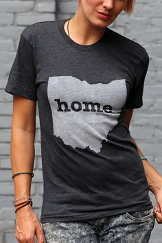 The Ohio Home T-shirt is a great way to show your state pride while helping raise money for multiple sclerosis research. It's also insanely soft! Bourbon And Boots, Home T Shirts, Printed Tees, Style Me, Cute Outfits, T Shirts For Women, Stylish, Casual, Mens Tops