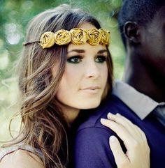 couronne de fleur #mariage  accessoire coiffure mariée
