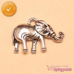 Ezüstszínű erdei elefánt - nikkelmentes fém zsuzsu / fityegő • Gyöngyvásár.hu Africa
