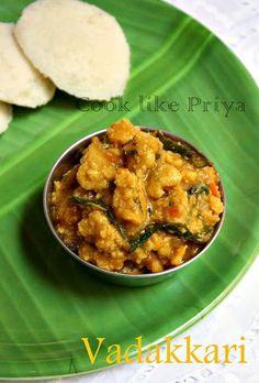 Cook like Priya: VadaKari | Vada Curry Recipe | South Indian breakf...