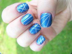 Kosmetycznie i życiowo: Tasiemka + moje paznokcie = romans wszech czasów!