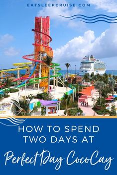 How to Spend Two Days at Perfect Day CocoCay Bahamas - If your Royal Caribbean cruise is spending two days at Perfect Day CocoCay in the Bahamas, there will be plenty to keep you entertained. Bahamas Cruise, Cruise Vacation, Vacations, Bahamas Island, Swim Up Bar, Kayak Adventures, Royal Caribbean Cruise, Second Day, Best Cruise