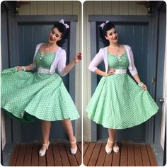 Retro Dresses Collectif Clothing Dress, Rita Sue Cardigan, Pinup Girl Clothing Belt, Miss L Fire Shoes Rockabilly Outfits, Rockabilly Fashion, 1950s Fashion, Vintage Fashion, Rockabilly Style, Rockabilly Girls, Goth Girls, Pin Up Outfits, Dress Outfits