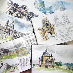 Fabulous Drawing On Creativity Ideas. Captivating Drawing On Creativity Ideas. Watercolor Architecture, Architecture Sketchbook, Architecture Art, Watercolor Sketchbook, Art Sketchbook, Watercolor Art, Fashion Sketchbook, Travel Sketchbook, Guache