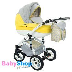 Kinderwagen Evado 3in1: Babywanne, Buggy, Autositz - gelb + Muster   http://www.babyshop.expert/Kinderwagen-Evado-3in1-Babywanne-Buggy-Autositz_20  #babyshopexpert #kombikinderwagen #kinderwagen