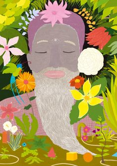 """""""There is a wonderful secret garden into your mind"""" #mindfulness #meditation  During the last months, I'm exploring new ways of making illustrations, focusing on representing our inner world.  ©Alessandro Bonaccorsi www.zuppassion.com"""