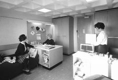 The picture above is of an East Halls room from 1962 which is identical to a present day room shown below.