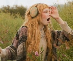 mori girl, meadow living, bohemian rhapsody, nordic idyll, fairy tale fashion, ear muffs are sexy