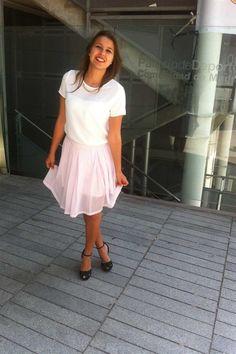 Loving this chic pastel pink skirt #Primania