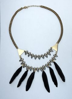 Black Feathered Statement Necklace https://www.etsy.com/listing/196155965/black-feathered-statement-necklace?ref=listing-2