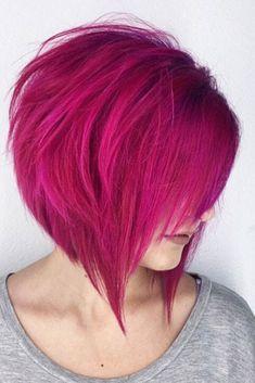 35 Short Bob Hairstyles 2019 for Women - Hairstyles Trends Vivid Hair Color, Hair Color Shades, Cool Hair Color, Hair Colors, Stacked Bob Hairstyles, Trendy Hairstyles, Bob Haircuts, Modern Haircuts, Hairstyles Haircuts