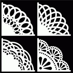 FREE SVG Doily Corners by Bird MORE like this on my 2D borders etc board