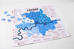 Santa's Lap: London Postcode Jigsaw Puzzle - Londonist