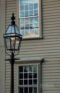 Beautiful windows and colonial lighting