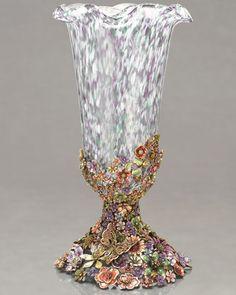 Jay Strongwater Haruko Cluster Flower Vase