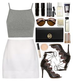 """""""Creamy monochrome"""" by sophiehackett ❤ liked on Polyvore"""