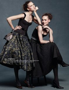 Karlie Kloss & Karmen Pedaru by Daniel Jackson