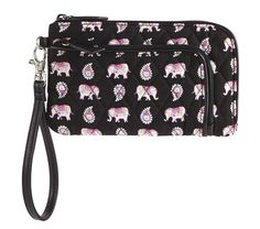 Zip Zip Wristlet in Pink Elephants: arriving online and in stores November 21.