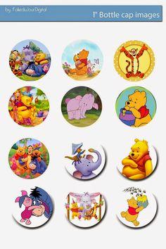 Folie du Jour Bottle Cap Images: Winnie the Pooh free digital bottle cap images
