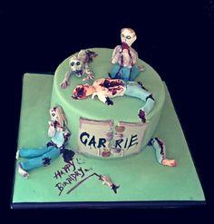 Walking dead inspired Zombie cake