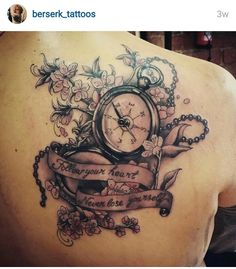Super feminine pocket watch tattoo idea (I know this one is a compass).