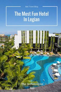 Looking for a fun hotel in Bali? Check out the Stones Hotel in Legian, one of the most fun boutique hotels in Bali. Bali Travel Guide, Asia Travel, Food Travel, Travel Pics, Travel Ideas, Have A Great Vacation, Great Vacations, Best Boutique Hotels, Best Hotels