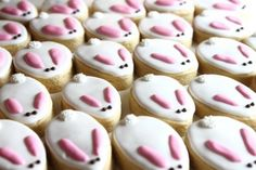 Easy Easter Bunny Cookies-bunny slipper cookies @Kayla Steinhoff by diane