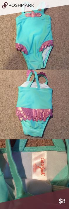 Mermaid bathing suit So cute! Worn once for only a few minutes! Like new!!! Swim One Piece