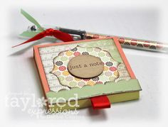 altered page protector | made the post-it cover in a similar manner, starting with a piece of ...